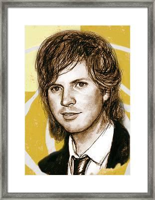 Beck Hansen - Stylised Drawing Art Poster Framed Print