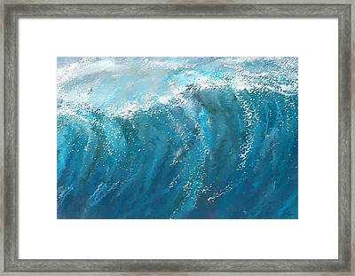 Beckoning Heights- Surfing Art Framed Print by Lourry Legarde