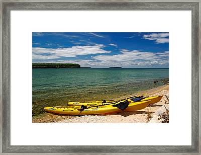 Framed Print featuring the photograph Beckoning Waters by Chuck De La Rosa