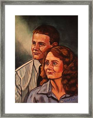 Becky And Ron Yearout Framed Print by Kendall Kessler