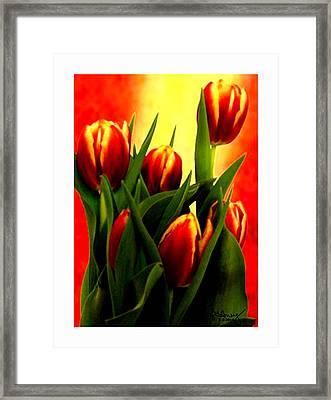 Becky Tulips Art2 Jgibney The Museum Gifts Framed Print by The MUSEUM Artist Series jGibney