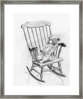 Framed Print featuring the painting Becky's Teddy by Dan Redmon