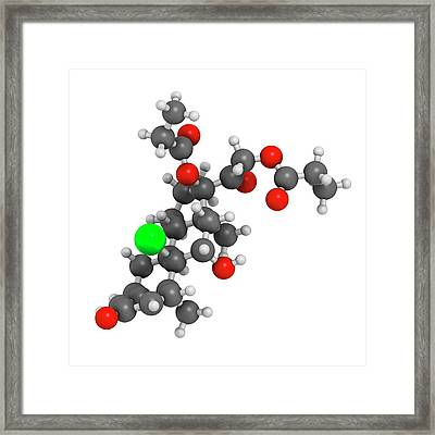 Beclometasone Dipropionate Steroid Drug Framed Print by Molekuul