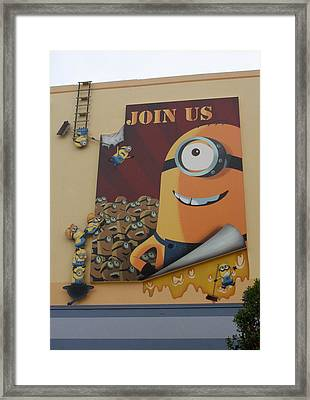 Become A Minion Framed Print
