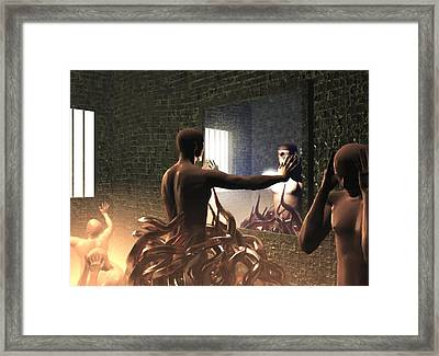 Framed Print featuring the digital art Becoming Disturbed by John Alexander