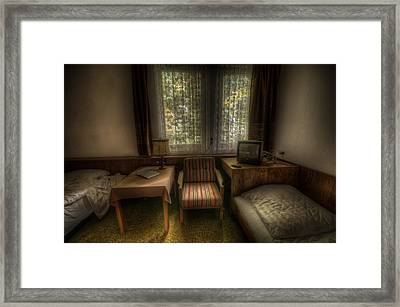 Bed For Two Framed Print by Nathan Wright