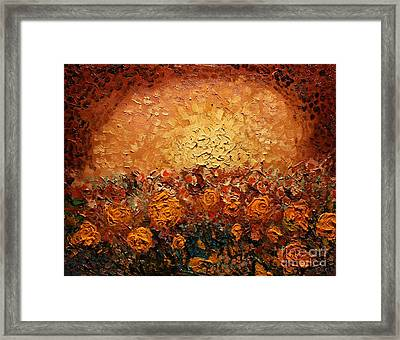 Bed Of Flowers Framed Print