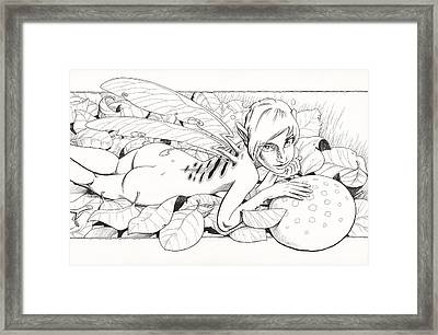 Bed Of Leaves Framed Print