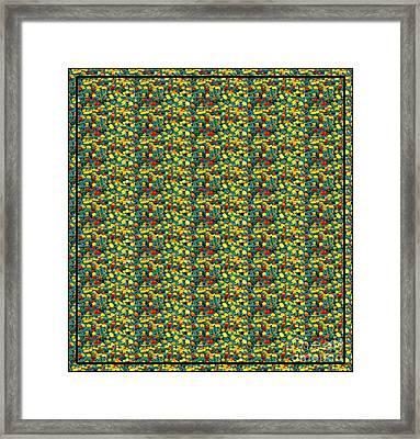 Bed Of Marigolds Framed Print