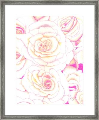 Bed Of Roses Framed Print by Dusty Reed