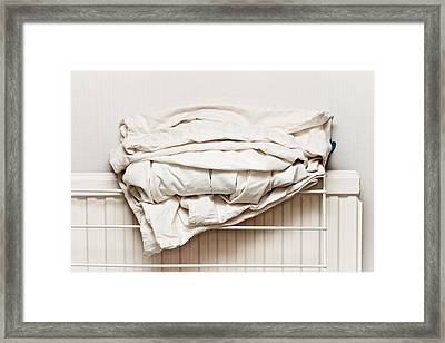 Bed Sheets Framed Print