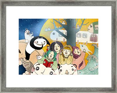 Bed Time Story Framed Print by Yoyo Zhao