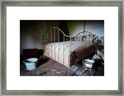 Bed Time Urban Exploration Framed Print
