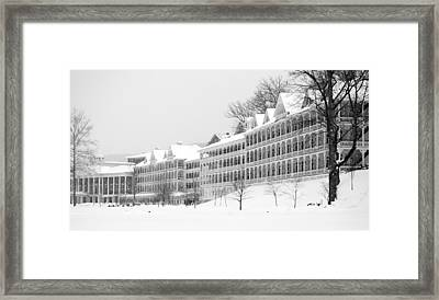 Bedford Springs Northern Colonnades  Framed Print by Mary Beth Landis