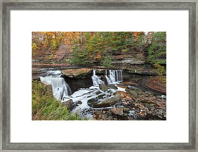 Bedford Viaduct Waterfall Framed Print by Daniel Behm