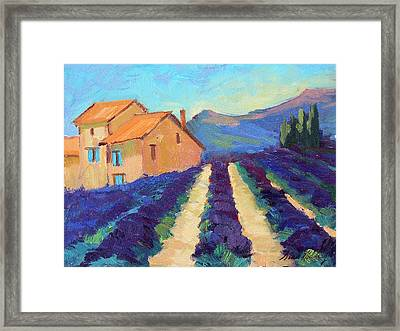 Bedoin - Provence Lavender Framed Print by Diane McClary