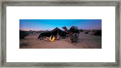 Bedouin Camp, Tunisia, Africa Framed Print by Panoramic Images