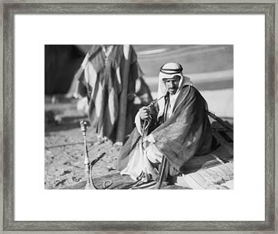Bedouins In Jordan Framed Print by Underwood Archives