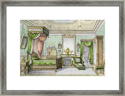 Bedroom In The Renaissance Style Framed Print by French School