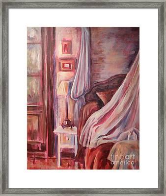 Bedside Lamp Framed Print by Ellen Howell