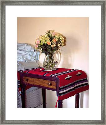 Bedside Desert Roses Palm Springs Framed Print by William Dey