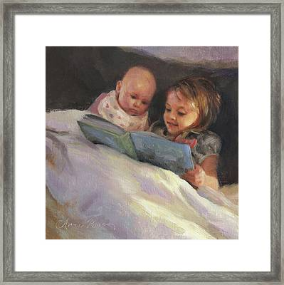 Bedtime Bible Stories Framed Print by Anna Rose Bain