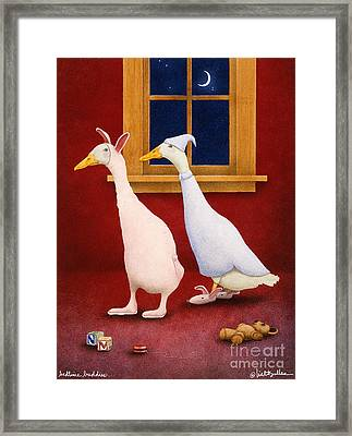 Bedtime Buddies... Framed Print by Will Bullas