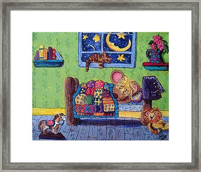 Bedtime Mouse Framed Print by Megan Walsh