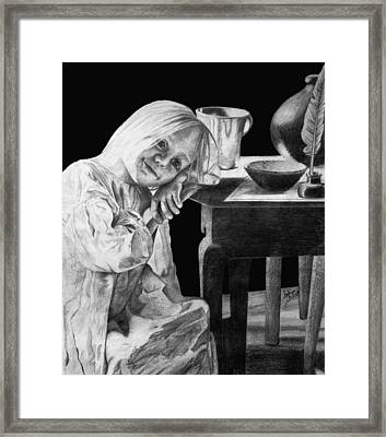 Framed Print featuring the drawing Bedtime by Sophia Schmierer