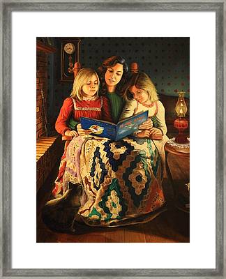 Bedtime Stories Framed Print by Glenn Beasley