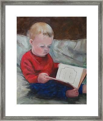 Bedtime Story Framed Print by Carol Berning