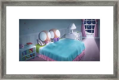 Bedtime Story Framed Print by Dana Alfonso