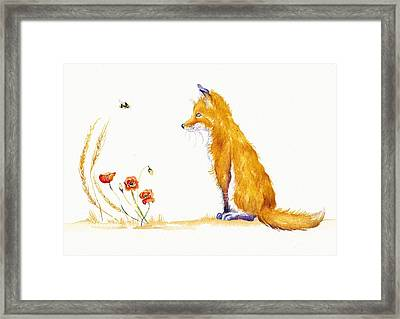 Bee A Summer Fox Framed Print