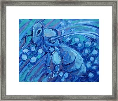 Bee Blue Framed Print