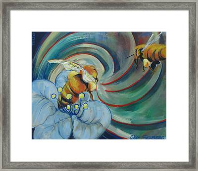 Bee Friends Framed Print
