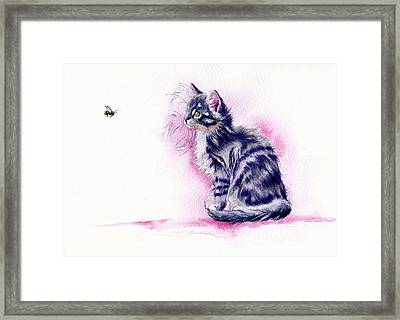 Bee-guiled Framed Print