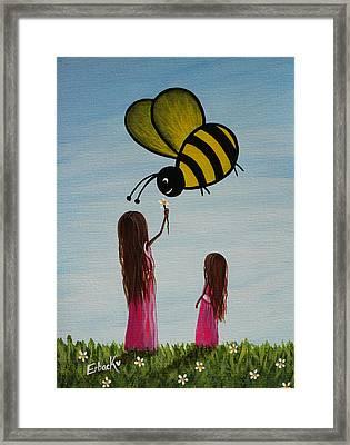 Bee Happy Original Artwork Framed Print