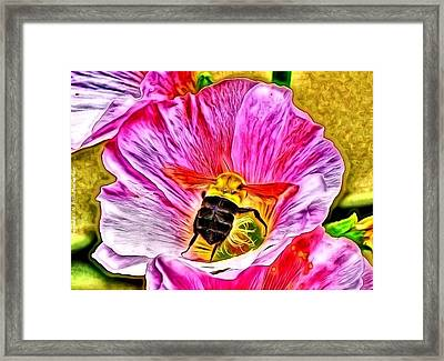 Framed Print featuring the photograph Bee Here In Colour by Al Fritz