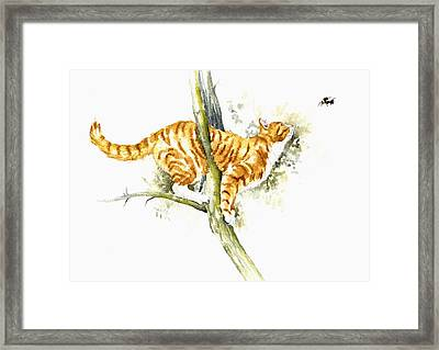 Bee High Framed Print
