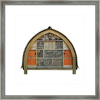 Bee Hotel Framed Print by Olivier Le Queinec