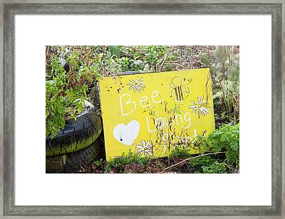 Bee Loving Plants Framed Print