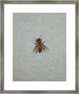 Bee Framed Print by Michael Creese