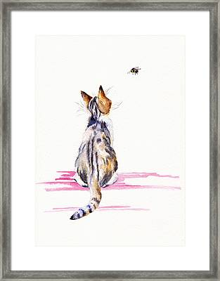Bee-mused Framed Print