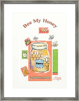 Framed Print featuring the digital art Bee My Honey by Arline Wagner