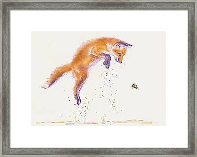 Bee Naive Framed Print