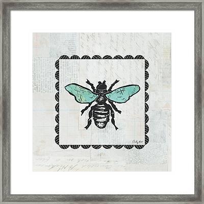 Bee Stamp Framed Print by Courtney Prahl
