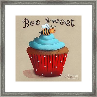 Bee Sweet Cupcake Framed Print by Catherine Holman