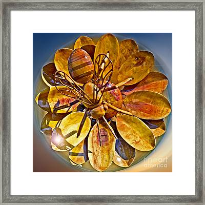Bee To The Flower Framed Print
