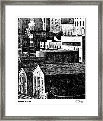 Beebe Power Station Framed Print