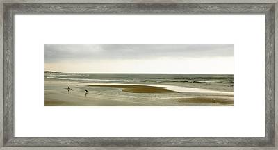 Beach Panorama In Goa Framed Print by Kedar Munshi